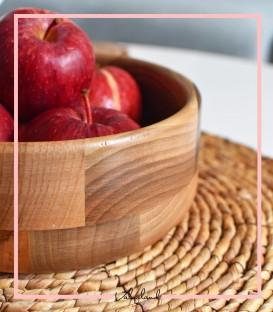 میوه خوری گرد چوبی