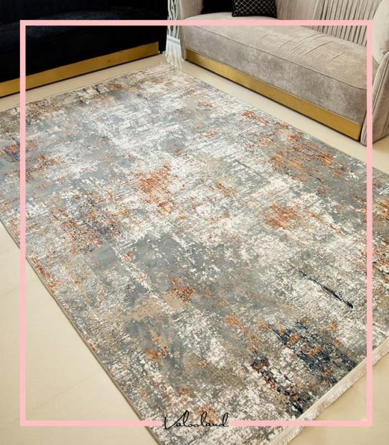 فرش ماشینی وینتیج ارزان طرح پوپک