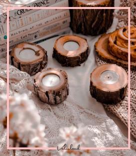 جاوارمری چوبی با یک شمع وارمر