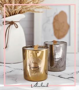 شمع لیوانی نقره ای