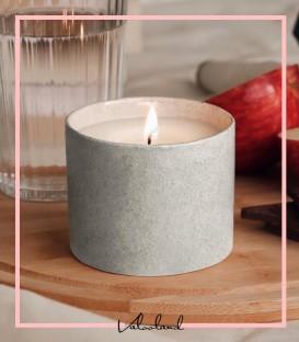 شمع سرامیکی طوسی برفکی گیاهی