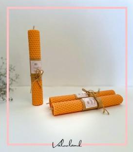 شمع قلمی موم عسل نارنجی