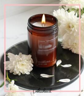 شمع معطر و گیاهی شیشه ایی با رایحه لیمو