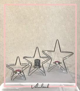 جا شمعی ست ستاره کروم