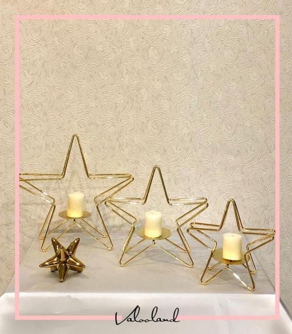 جا شمعی ست ستاره طلایی