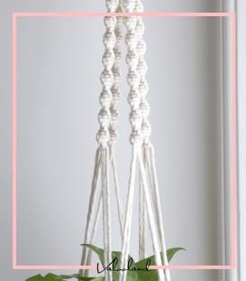 آویز گلدان دیواری پیچ چهارتایی مکرومه