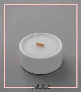شمع سرامیکی سفید کوچک