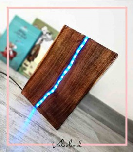 چراغ دکوراتیو رومیزی چوبی کتابی