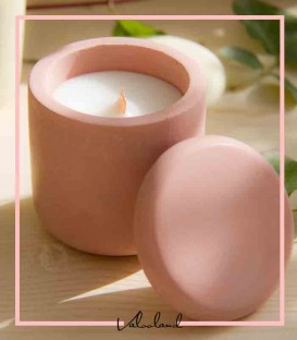 شمع معطر با ظرف بتنی