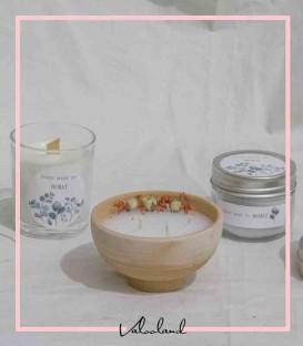 شمع معطر با موم سویا و ظرف سفالی