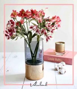 گلدان استوانه ای شیشه ای