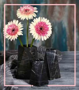 ست گلدان سنگی مثلثی