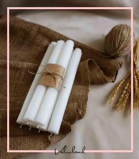 شمع قلمی شیاردار سفید