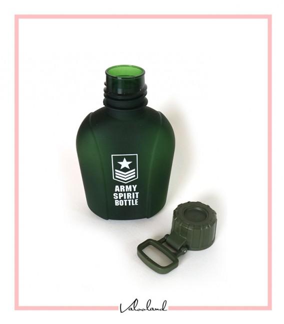 قمقمه ارتشی با در وکیومی قلاب دار سبز