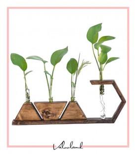 گلدان و استند چوبی رومیزی