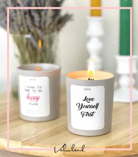 شمع لیوانی پاستلی کوچک