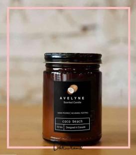شمع شیشه قهوه ای عطری درب کانتینری