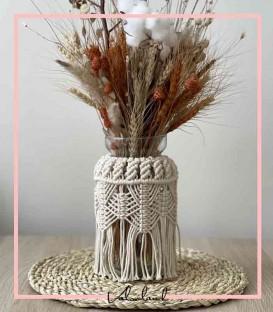 گلدان مکرومه بافی