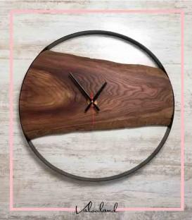 ساعت دیواری چوبی روستیک