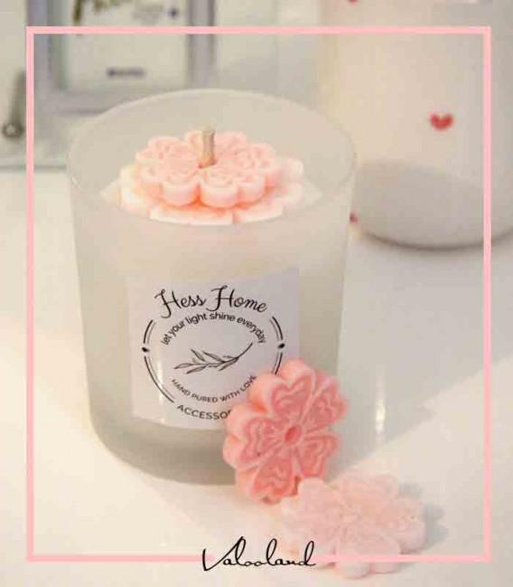 شمع لیوانی رنگی آوینا