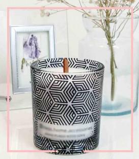 شمع دست ساز شیشه ای لاوین