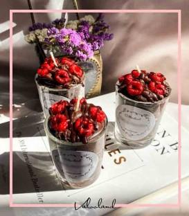 شمع های تزیینی طرح آیس پک شکلاتی