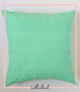 کاور کوسن و شال تخت بافت سبز رنگ