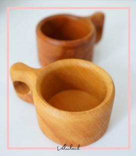 لیوان دسته دار چوبی