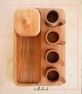 ست قهوه خوری چوبی