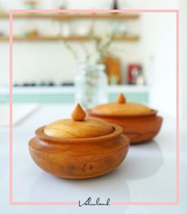 شکلات خوری چوبی لبه دار