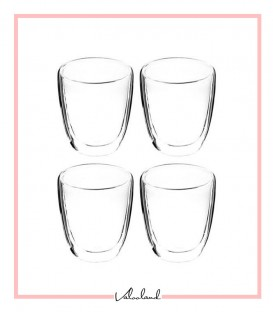 لیوان دو جداره بدون دسته