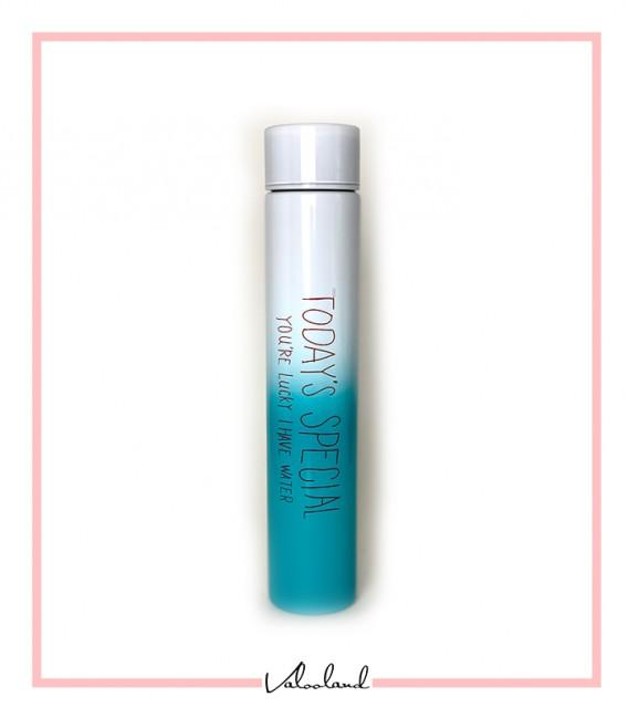 فلاسک همراه استوانه ای رنگین کمان آبی سفید